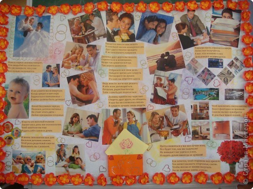 Плакаты на годовщину свадьбы своими руками фото